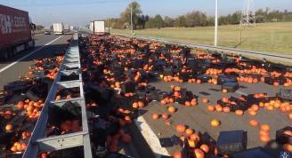 Dynie zablokowały autostradę A2