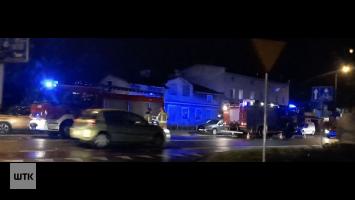 Pożar przy Lidlu. Strażacy przeszukują budynek