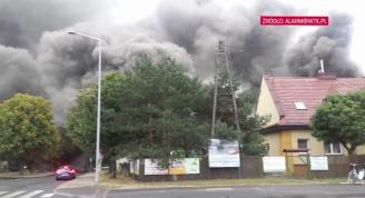Potężny pożar na Naramowicach - zobacz relacje świadków
