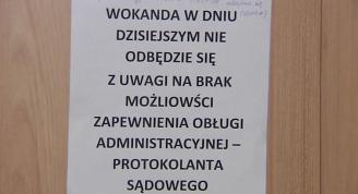 Protest pracowników sądu